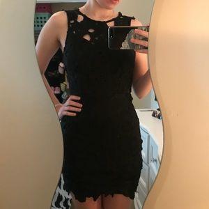 Little Black Lacy Cocktail Dress
